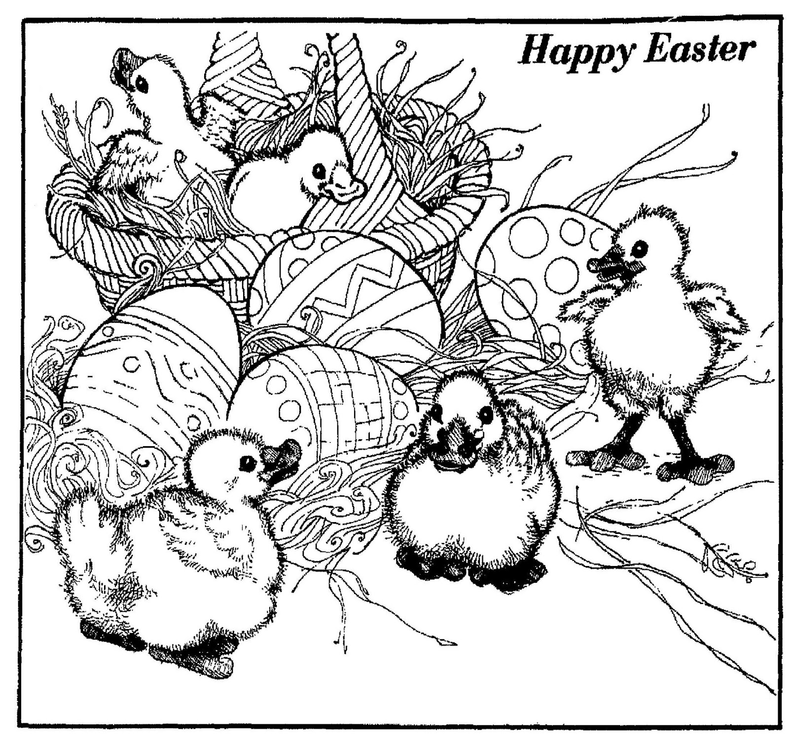 Mostly Paper Dolls Too!: EASTER Ducklings to Color
