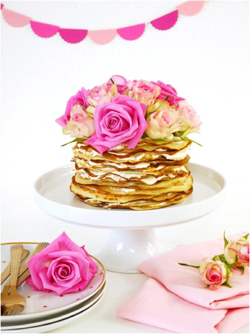 Recette Gâteaux aux Crepes à L'eau de Roses