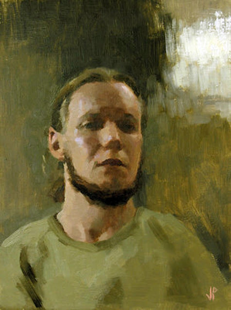 Jussi Poyhonen, Self Portrait, Portraits of Painters, Fine arts, Portraits of painters blog, Paintings of Jussi Poyhonen, Painter Jussi Poyhonen