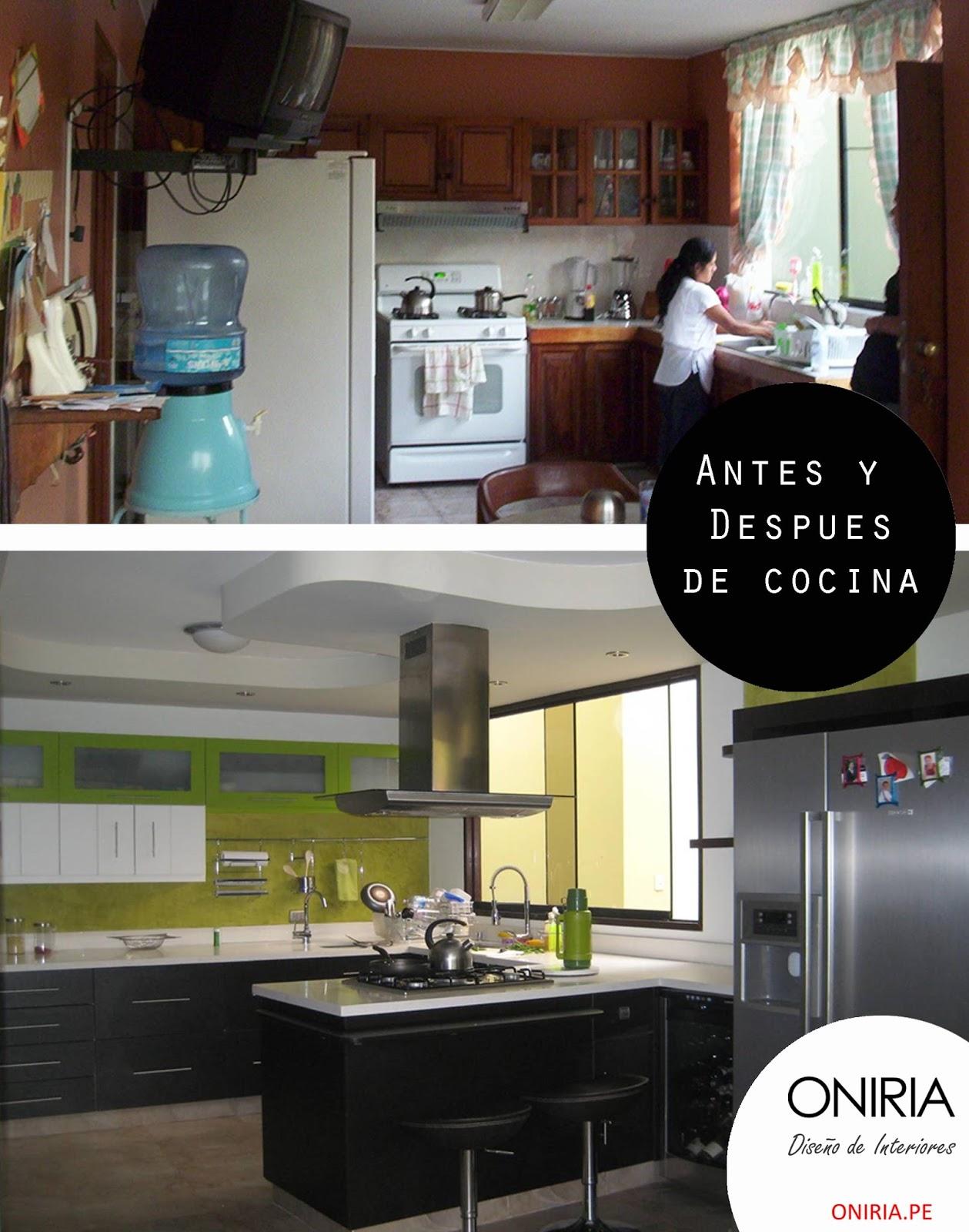 Oniria: Antes y Despues: Remodelación de Cocina