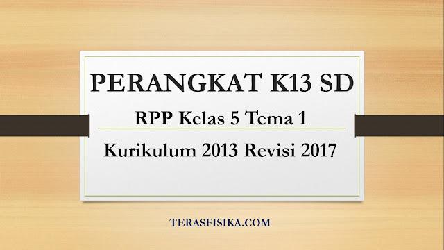 Download RPP SD Kelas 5 Tema 1 Kurikulum 2013 Revisi 2018
