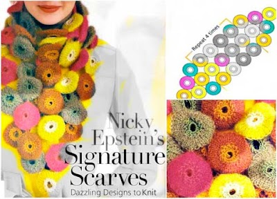 Cuello bufanda compuesta de yo-yos en 3D a crochet