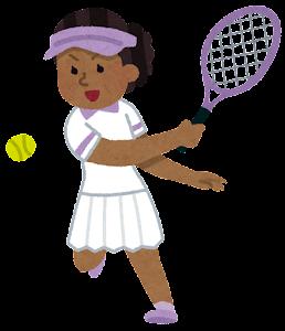 テニス選手のイラスト(黒人女性)