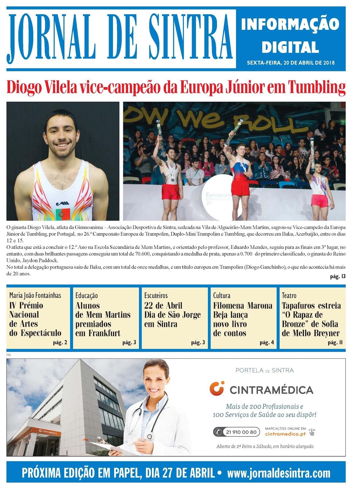 Capa da edição de 20-04-2018