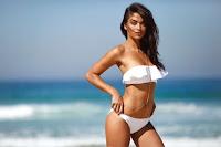 Shanina Shaik bikini models photoshoot for Kookai Swimwear Collection 2016