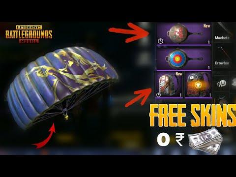 Get Free Parachute, Shark Mask, Pan Skin, Premium Creates From PUBG