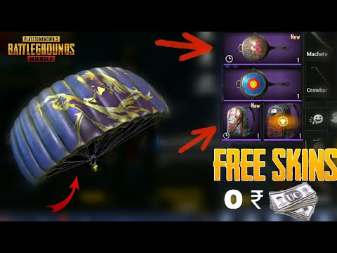 Get Free Parachute, Shark Mask, Pan Skin, Premium Creates From PUBG