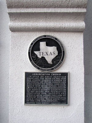 Annunciation Church Texas Historical Commission Marker
