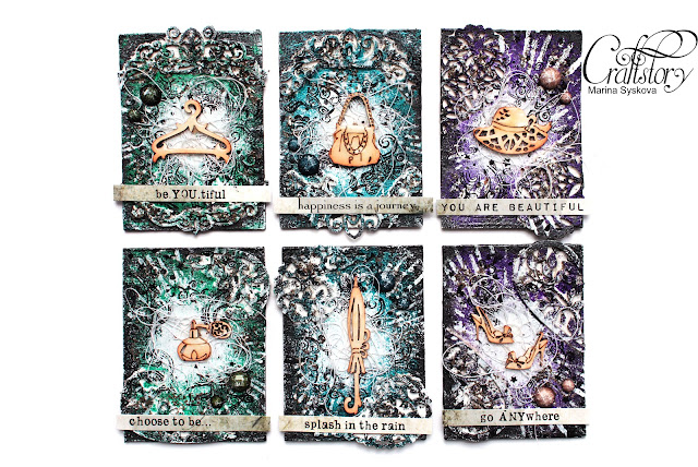@marinasyskova #scrapbooking #atc #mixedmeida #tutorial #artisttradingcard