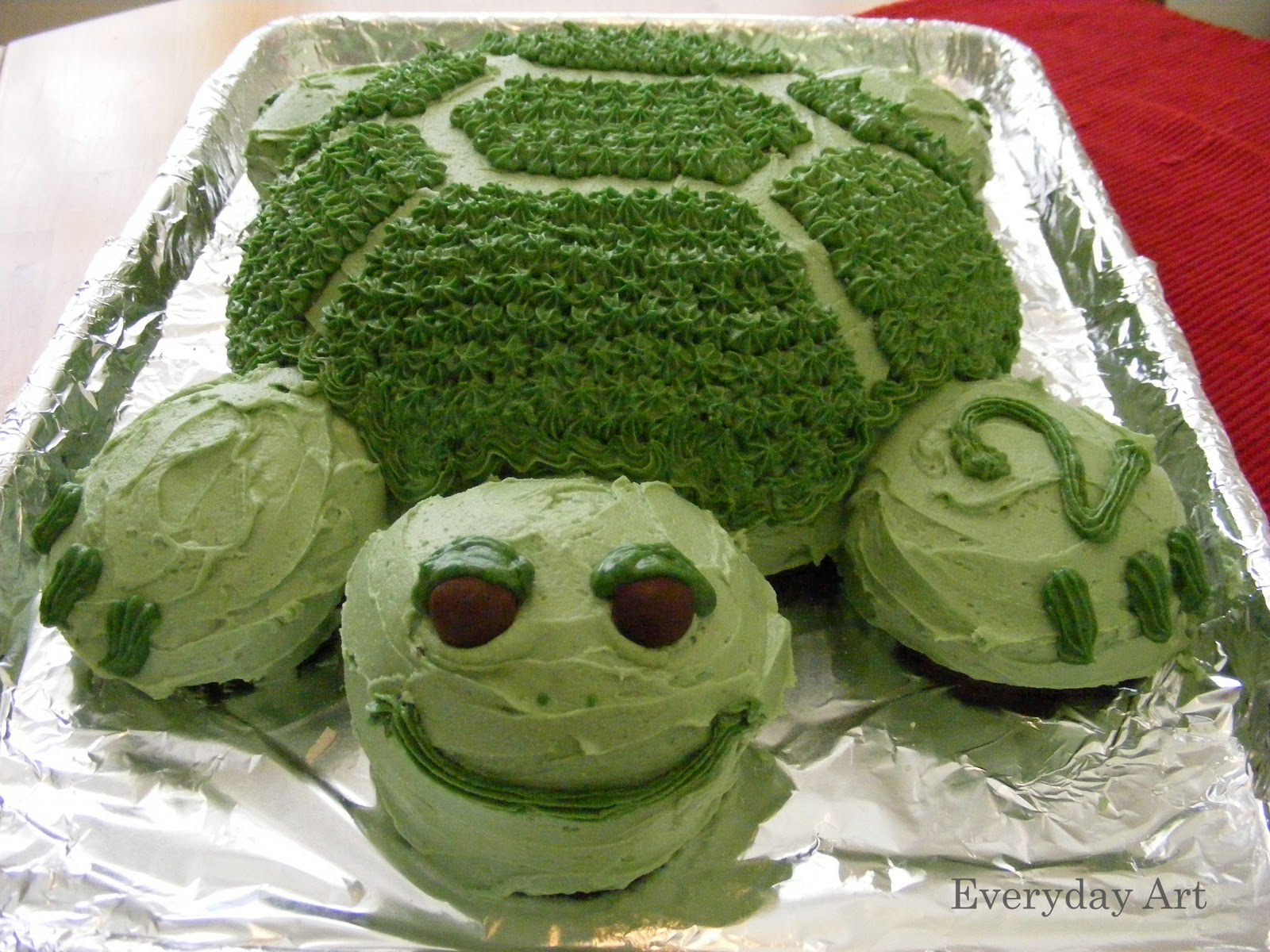 Everyday Art Turtle Birthday Cake