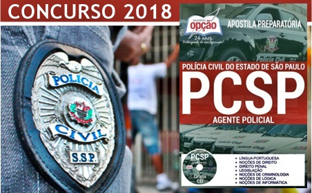 Concurso PC-SP 2018 Agente de Polícia Civil