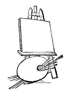 stock easel illustration
