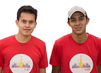 Free Walks Loja tour guides Jonathan Poma and Kevin Rohoden