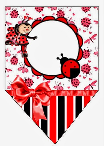 Smiling Ladybugs Free Printable Banner.