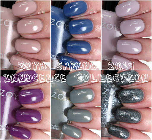 Zoya Spring 2019 Innocence Collection Swatches and Reviews