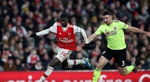 شيفيلد يونايتد يفرض التعادل الاجابي على ارسنال بهدف لمثله في مباراة الجولة 23 من الدوري الانجليزي