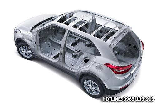 Khung thép cấu tạo thân xe hyundai creta 2016