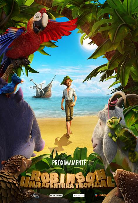 Teaser póster de la animada 'Robinson. Una aventura tropical'