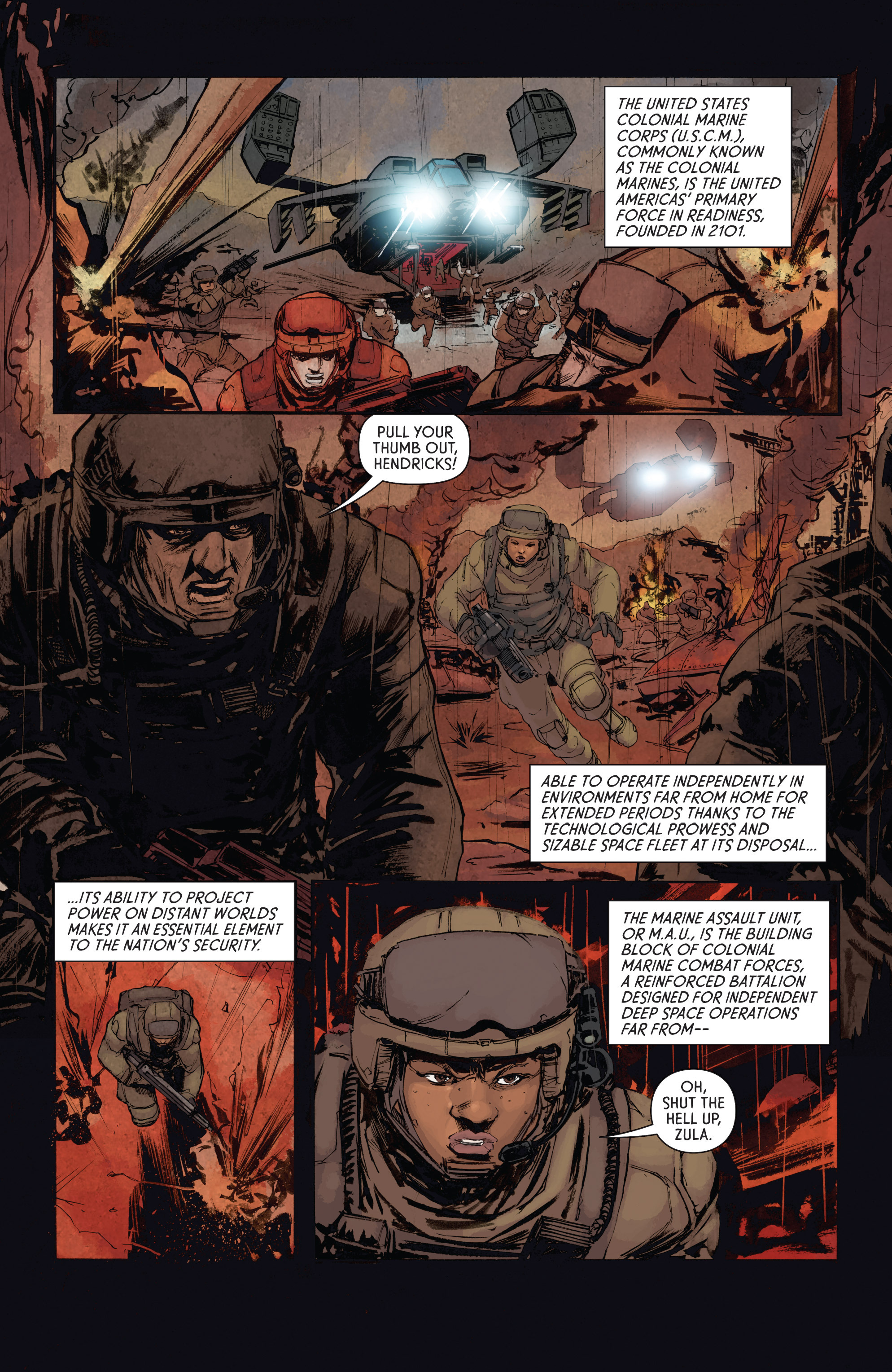 Read online Aliens: Defiance comic -  Issue #4 - 9