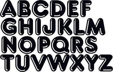 Graffiti Buchstaben A-Z zum ausdrucken, Graffiti Schrift ABC