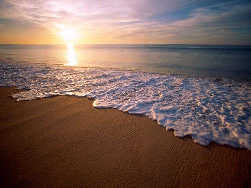 صورة البحر وقت الغروب جميلة جدا