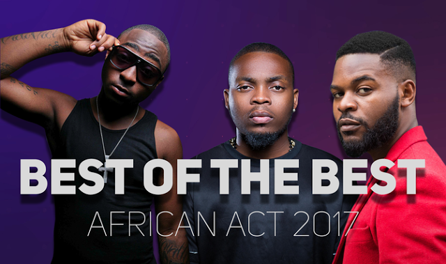 Davido, Olamide & Falz Battle for 'Best Of The Best African Act 2017'