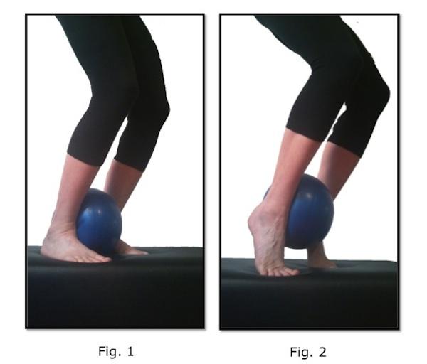Stability Ball Leg Raises: Calf Raise With Bent Leg Ball