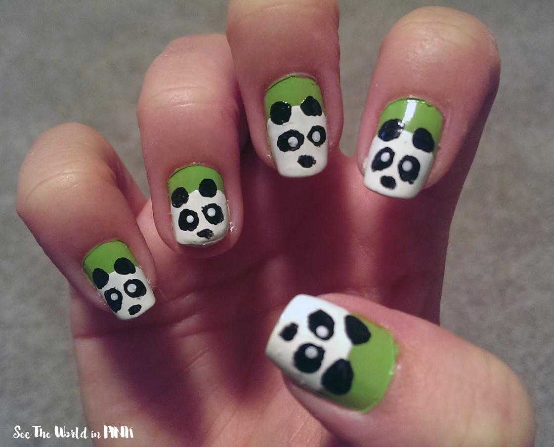 Manicure Monday - Panda Nail Art! | See the World in PINK