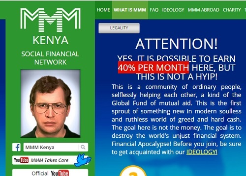After Hearts Break In Nigeria, MMM moves to Kenya, Promises 40% On Deposits