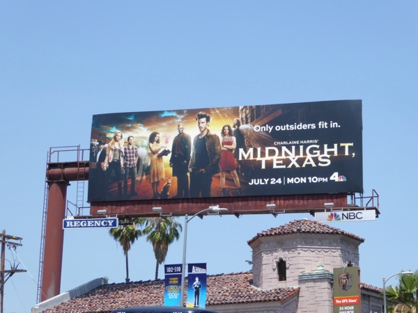Midnight Texas series premiere billboard
