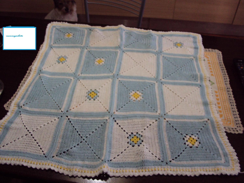 Super basta un filo.. lavori a maglia per bambini: copertina uncinetto NC55
