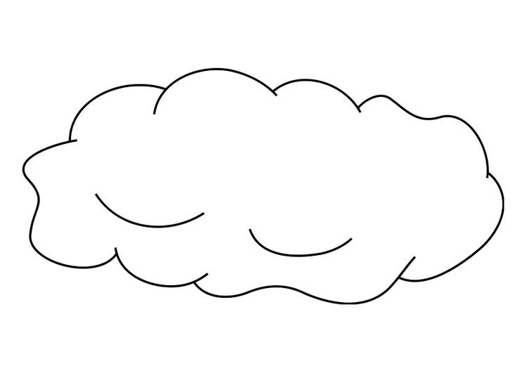desenhos de nuvens para colorir