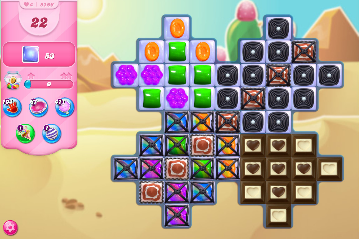 Candy Crush Saga level 5166