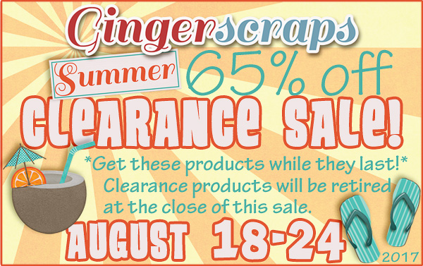 Gingerscraps Summer Clearance Sale
