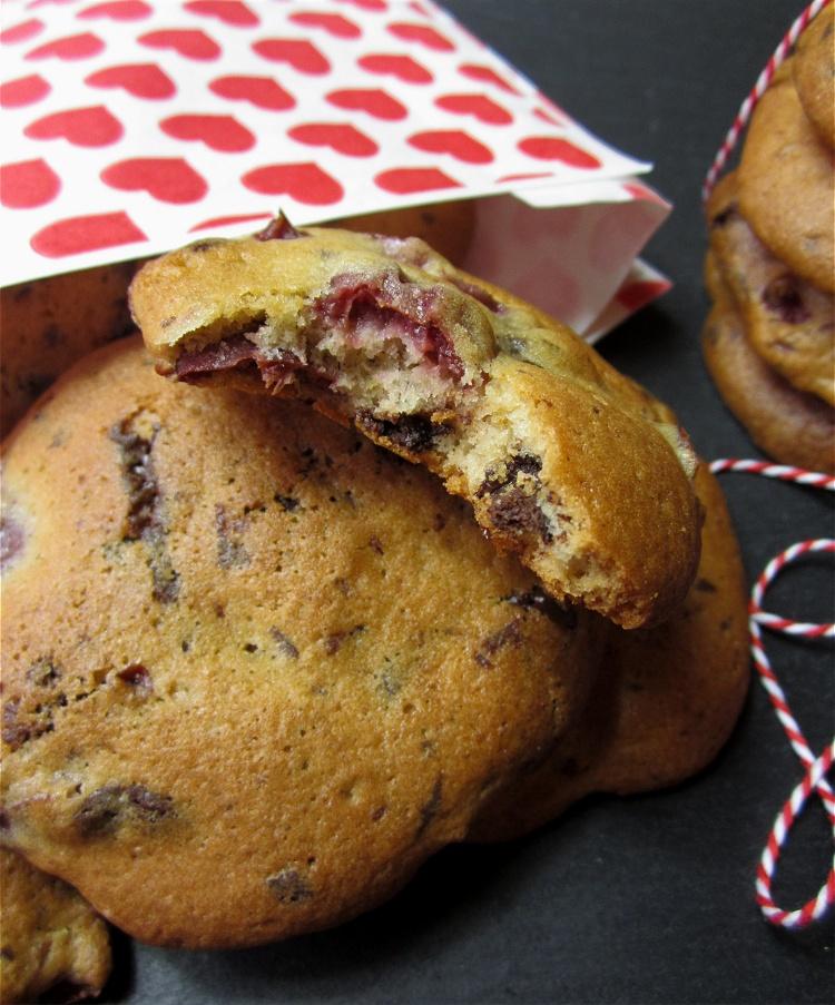 Schoko-Kirsch-Cookies 2