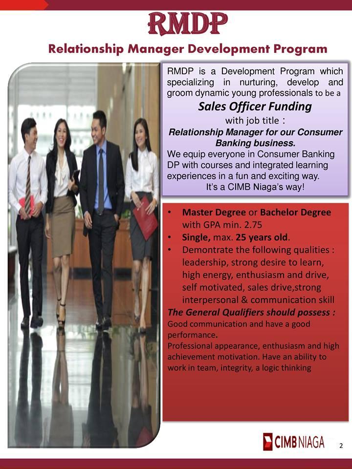 Lowongan Kerja Relationship Manager Development Program Bank CIMB Niaga