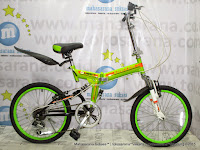 Sepeda Lipat UNITED QUEST FX02 Full Suspension 6 Speed 20 Inci