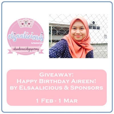 'Giveaway: Happy Birthday Aireen! by Elsaalicious & Sponsors'