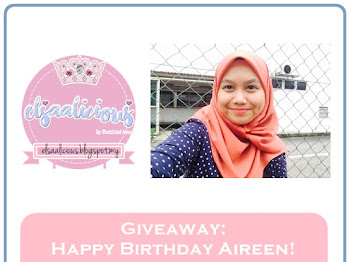 Giveaway: Happy Birthday Aireen! by Elsaalicious & Sponsors'