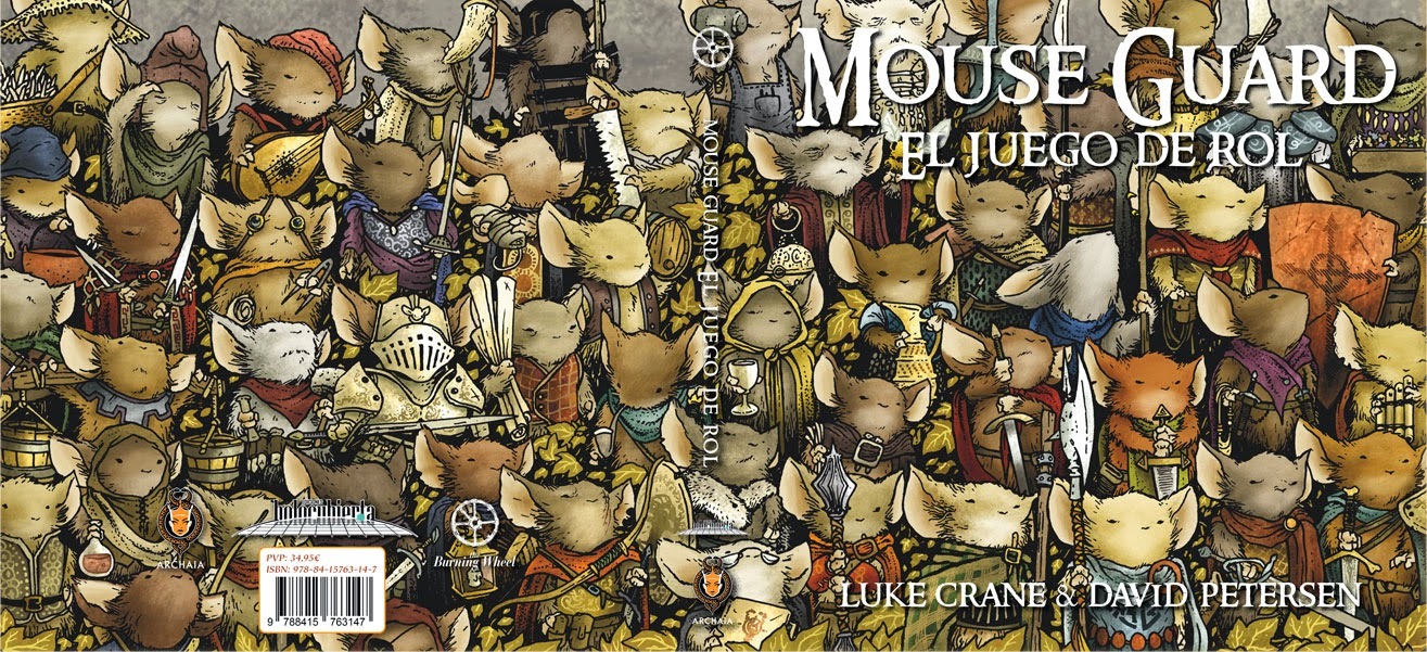 [Unboxing] Mouse Guard. JdR