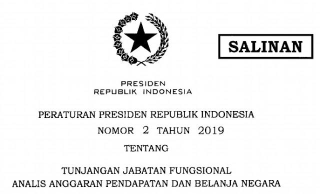 Peraturan Presiden Nomor 2 tahun 2019