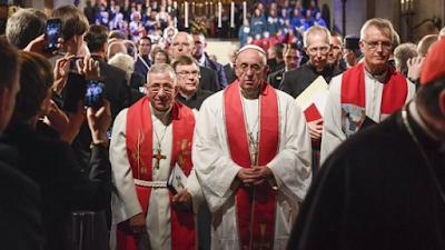 Papa-em-igreja-luterana