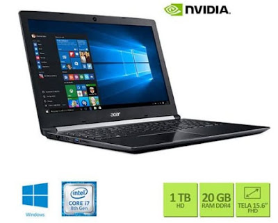 Foto do Notebook Acer A515-51G-C690 Intel Core i7 8550U
