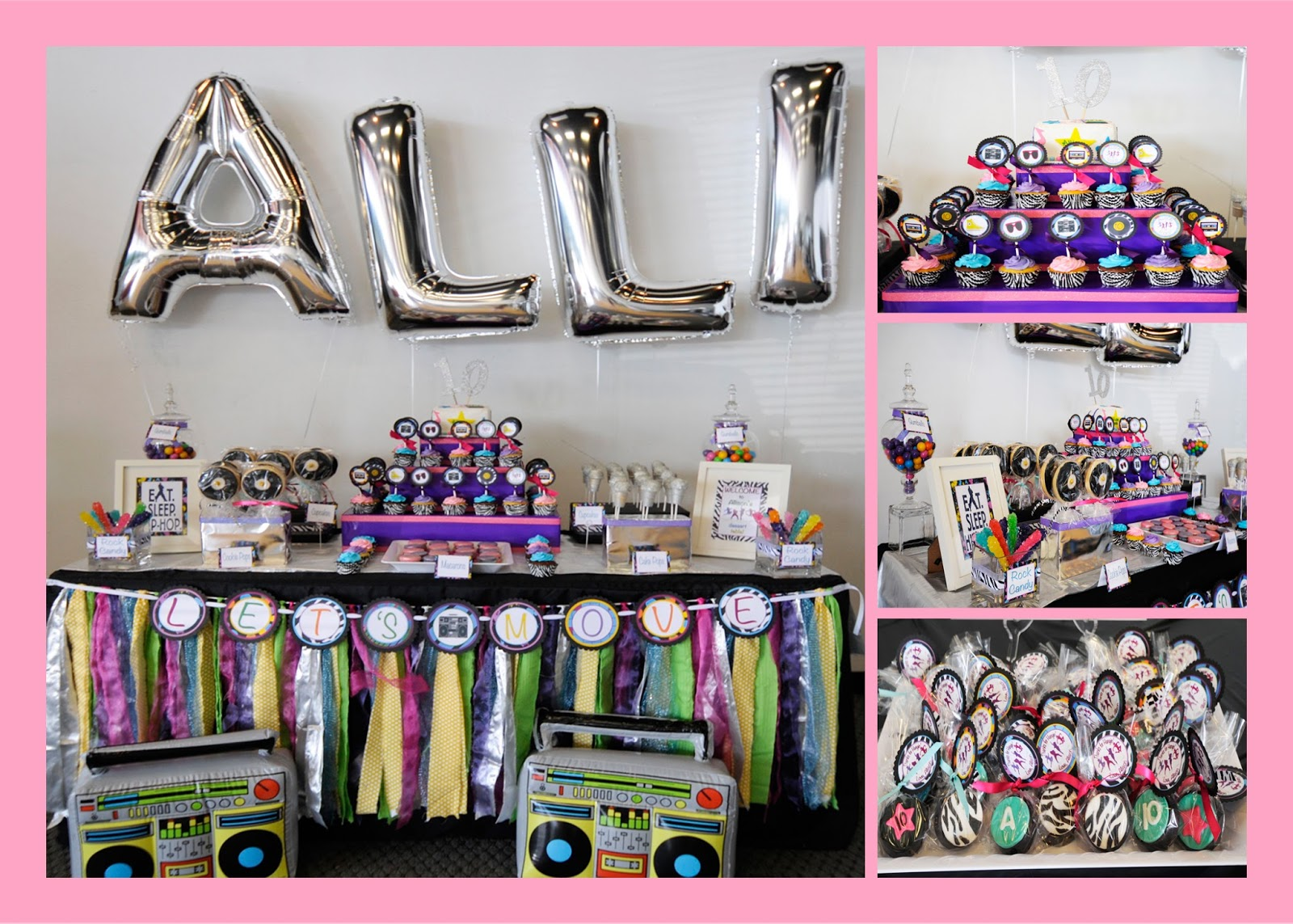 Allison S Hip Hop Themed 10th Birthday Party Craftykelle Party Blog