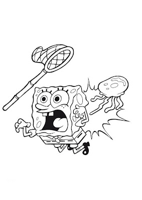jellyfish spongebob coloring pages - photo#1