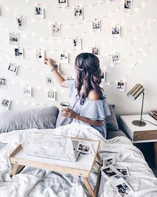 decoracion recamara fotos en la pared