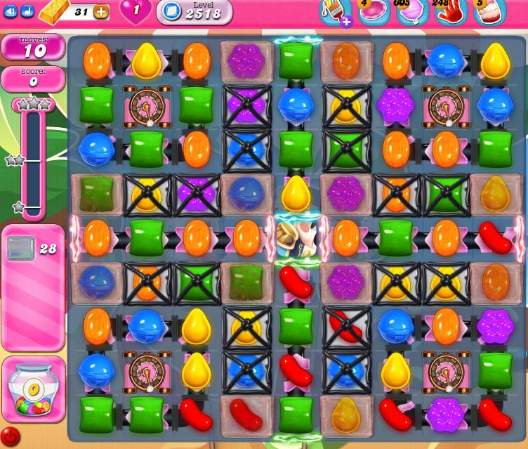 Candy Crush Saga level 2518