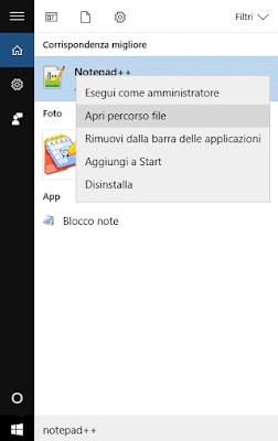 Trovare percorso file su Windows 10