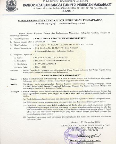 Contoh Surat Pengunduran Diri Dari Organisasi Pencak Silat ...