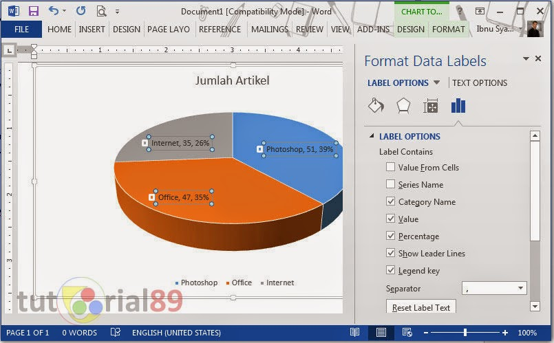 Cara mudah membuat diagram di microsoft word video tutorial89 ccuart